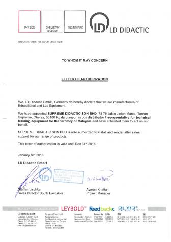 LD Authorization Letter 2016