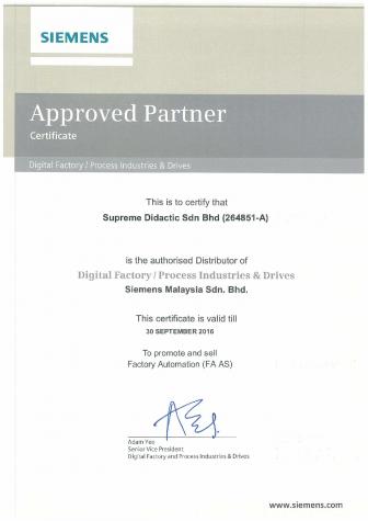 Siemens Certificate